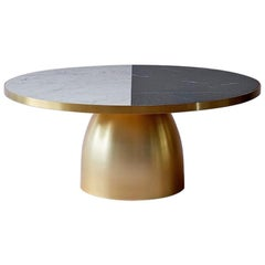 Bethan Gray Small Lustre Coffee Table Black and White with Brass
