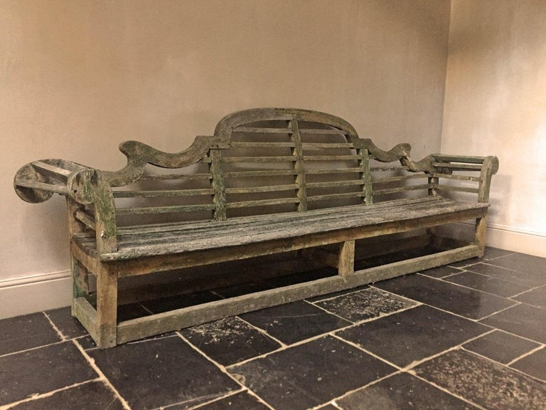 Lutyens Garden Bench, Early 20th Century For Sale 8