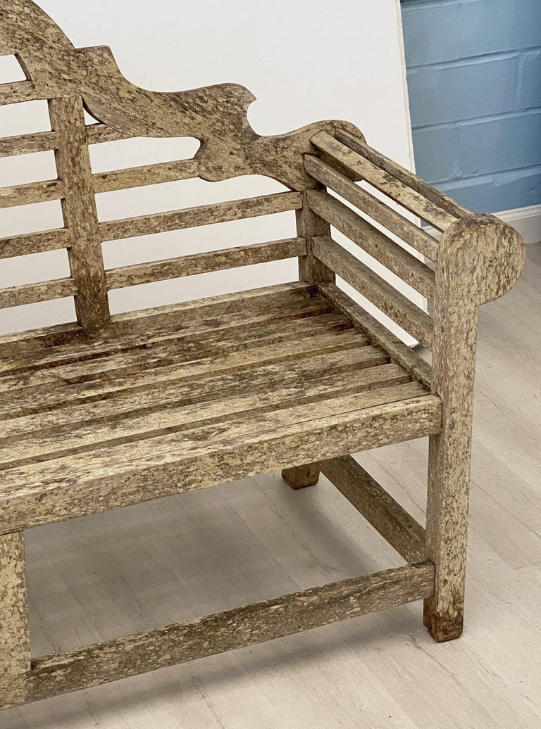 Lutyens Style Teak Garden Bench Seat from England For Sale 4