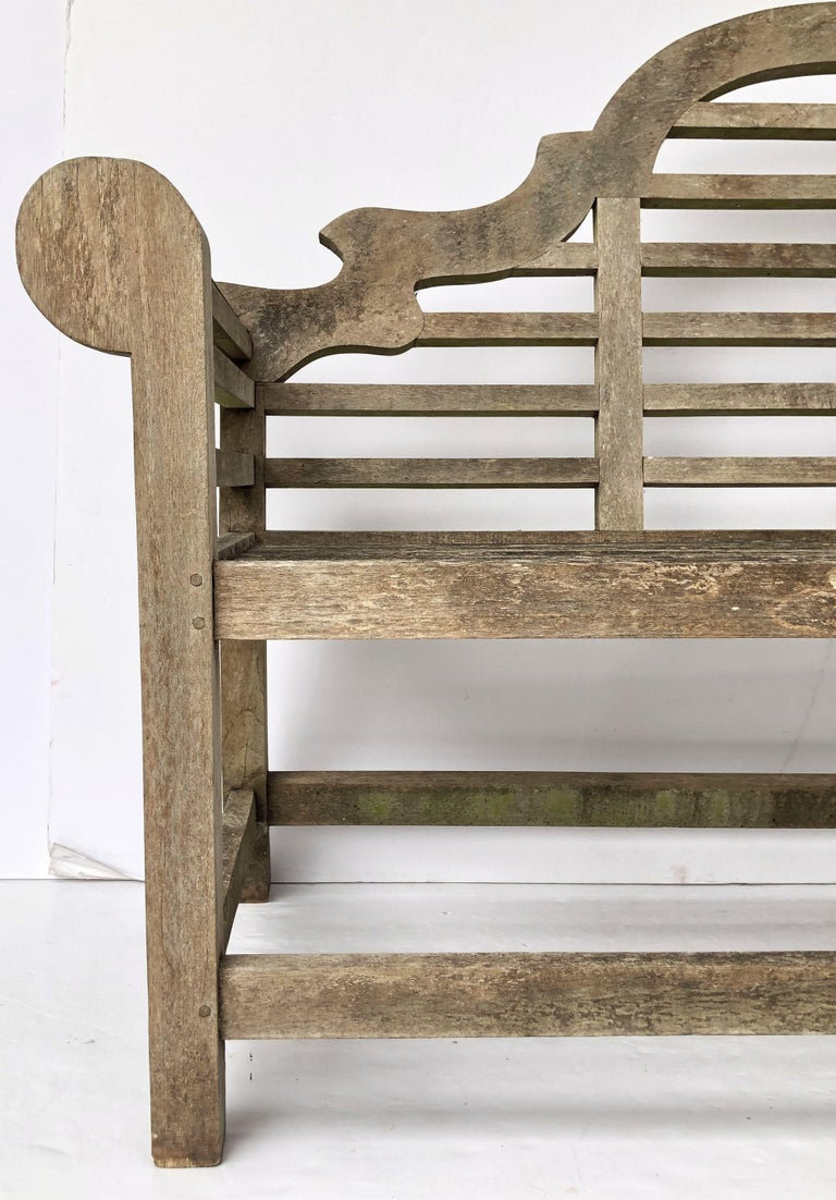 Lutyens Style Teak Garden Bench Seat From England At 1stdibs