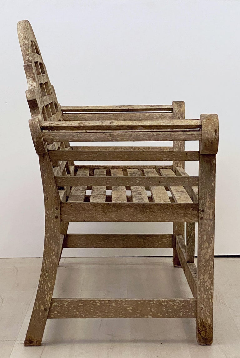 Lutyens Style Teak Garden Bench Seat from England For Sale 10