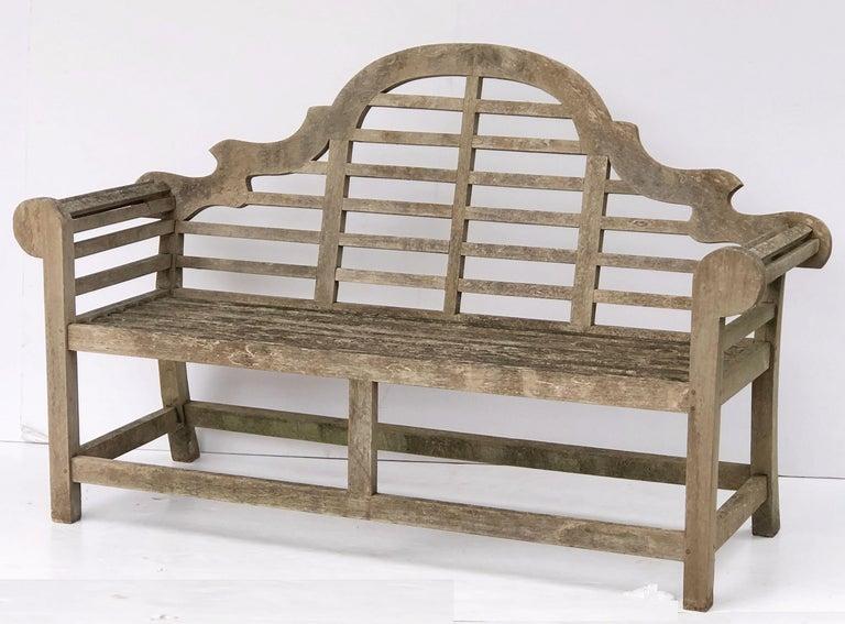 Lutyens Style Teak Garden Bench Seat From England At 1stdibs