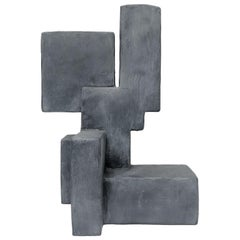 """""""Luuk"""" Mixed-Media Table Top Sculpture in Grey Finish by Dan Schneiger"""