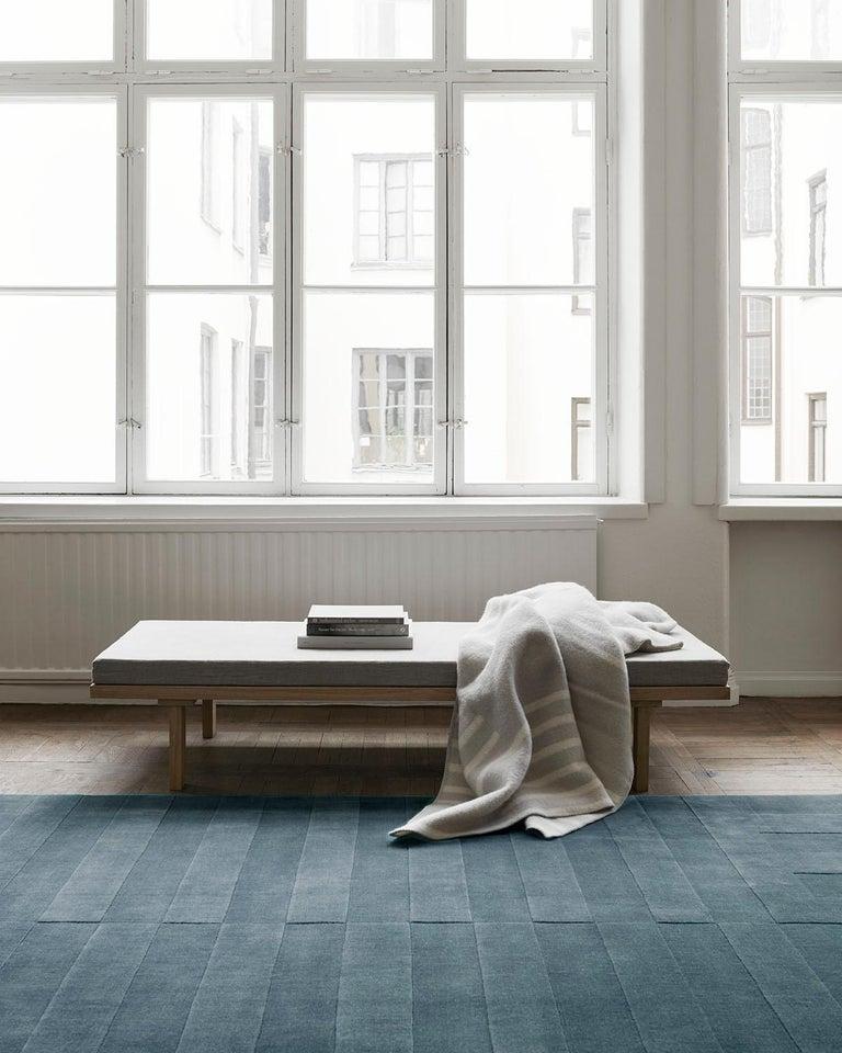 Modern Lux 2 Petroleum, Wool Cut Pile Rug For Sale