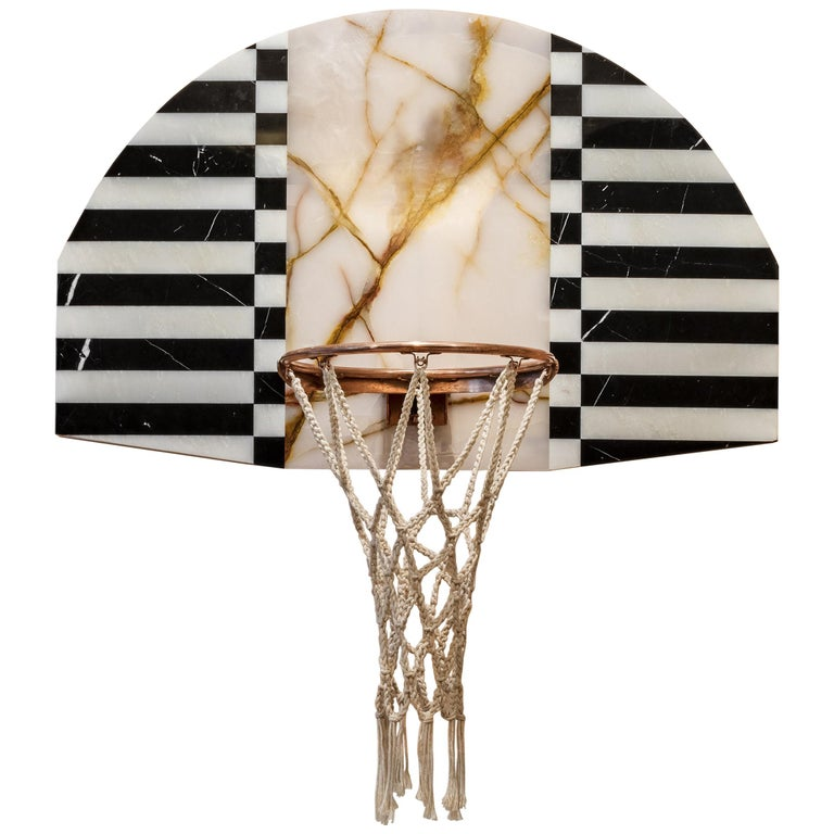 Lux Mini Hoops by MONIOMI, Round Hand-Crafted Marble Basketball Hoop For Sale
