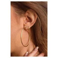 Luxe Hoops, White Gold