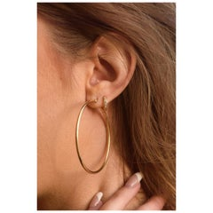 Luxe Hoops, Yellow Gold