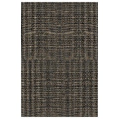 Luxe Marled Style Customizable Gemini Weave Rug in Black Mix Small