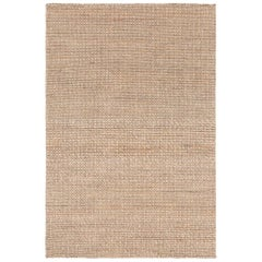 Luxe Marled Style Customizable Gemini Weave Rug in Cream Mix X-Large