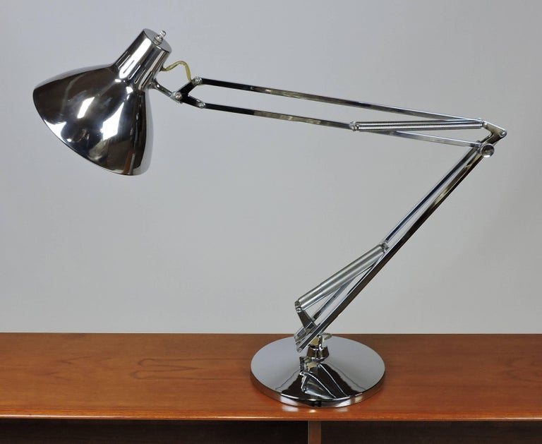 Luxo L 1 Articulated Chrome Desk Task Lamp For Sale At 1stdibs