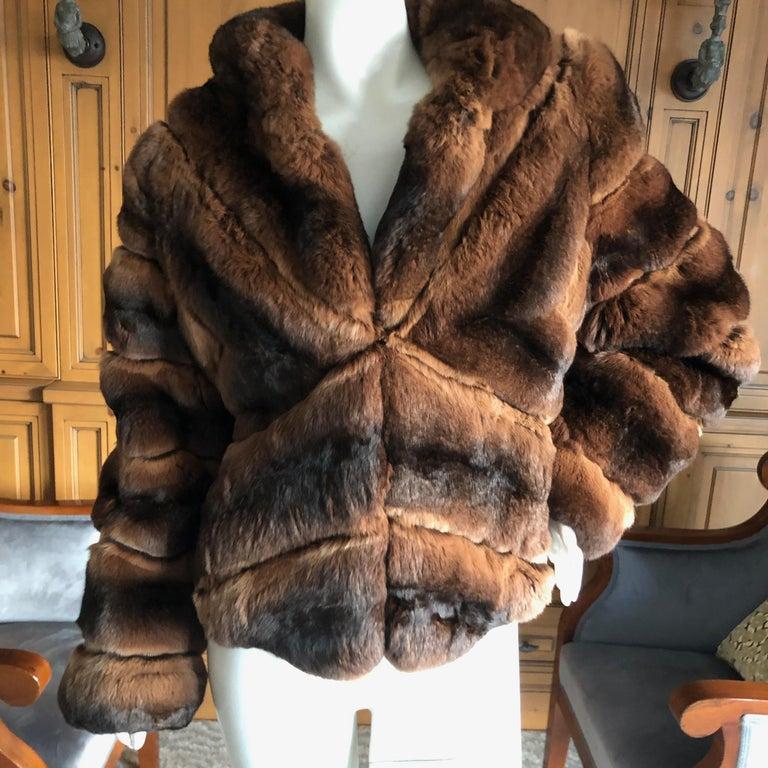 Women's Luxurious Chevron Pattern Chinchilla Jacket from Nieman Marcus by Eric Gaskins