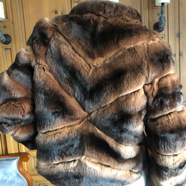 Luxurious Chevron Pattern Chinchilla Jacket from Nieman Marcus by Eric Gaskins 3