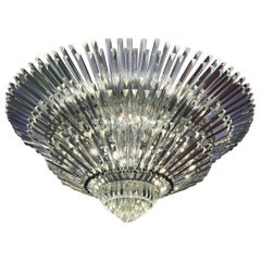 Luxurious Contemporary Italian Murano Glass Triedi Ceiling Light