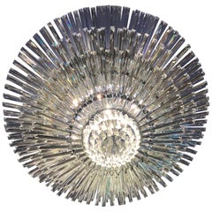 Luxurious Contemporary Italian Murano Glass Triedi Ceiling Light