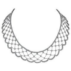 Luxurious Designed Platinum and 26.69 Carat Diamond Necklace