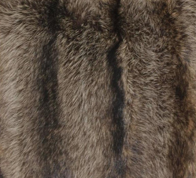Luxurious Down Filled Genuine Raccoon Throw Pillows In Excellent Condition For Sale In Long Island City, NY