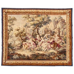 Luxurious Fine Antique French Aubusson Tapestry