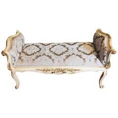 Luxurious French Bench, Gondola in the Louis Seize XVI Style