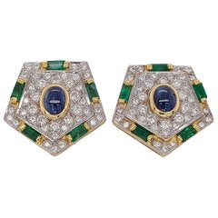 Emerald Clip-on Earrings