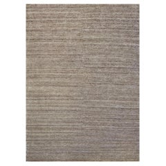 Luxurious Handwoven Wool and Silk Contemporary Rug