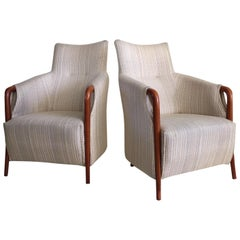 Luxuriöse hohe Rückenlehne Stühle Giorgetti zugeschrieben