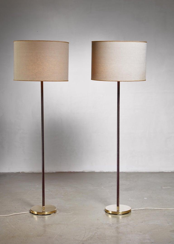 Mid-Century Modern Luxurious, Minimal Floor Lamp by J.T. Kalmar, Austria, 1960s For Sale