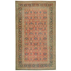 Luxurious Oversize Antique Persian Doroksh Rug