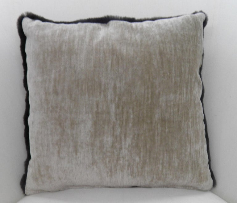 Unknown Luxurious Sheared Nutria Throw Pillows For Sale