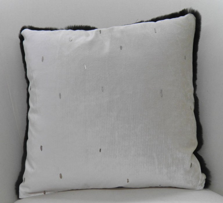Luxurious Sheared Nutria Throw Pillows In Excellent Condition For Sale In Long Island City, NY