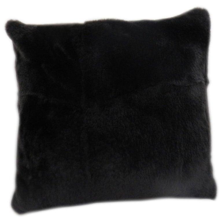 Luxurious Sheared Nutria Throw Pillows For Sale