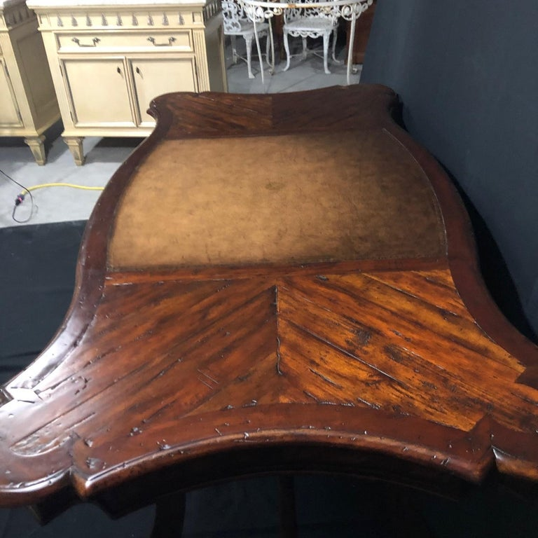 Luxurious Theodore Alexander Castle Bromwich Mahogany & Leather Writing Desk For Sale 5