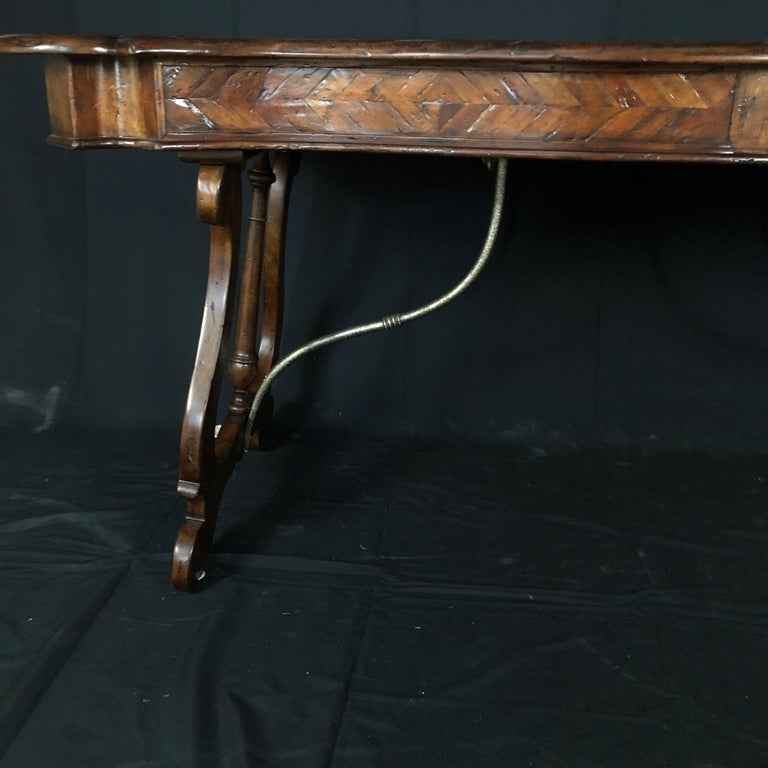 Luxurious Theodore Alexander Castle Bromwich Mahogany & Leather Writing Desk For Sale 8