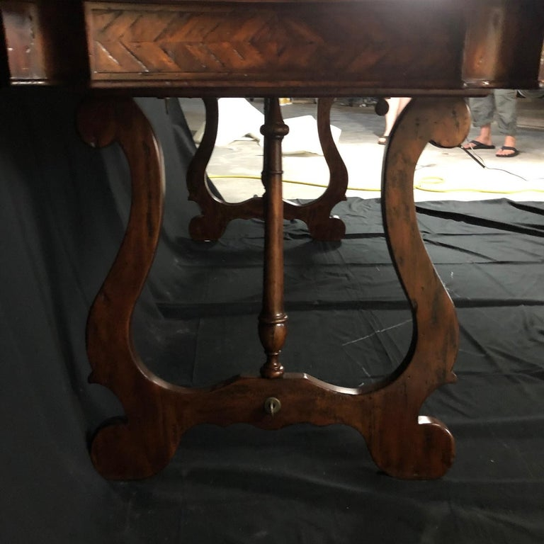 Luxurious Theodore Alexander Castle Bromwich Mahogany & Leather Writing Desk For Sale 1