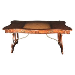 Luxurious Theodore Alexander Castle Bromwich Mahogany & Leather Writing Desk