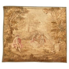 Luxurious Very Fine Silk French Aubusson Tapestry