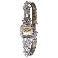 Luxurious White Gold Diamond Hamilton Ladies wrist watch
