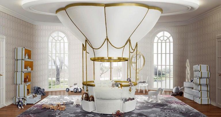 Luxury Ballooning Bed For Children Bedroom Basket Crib Bed