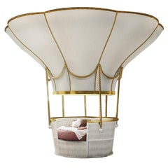 Luxury Ballooning Bed for Children Bedroom Basket Crib Bed & Sofa for Kids Room
