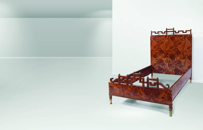 Italian Luxury Bedroom and Two Bedside Tables by Gio Ponti For Sale