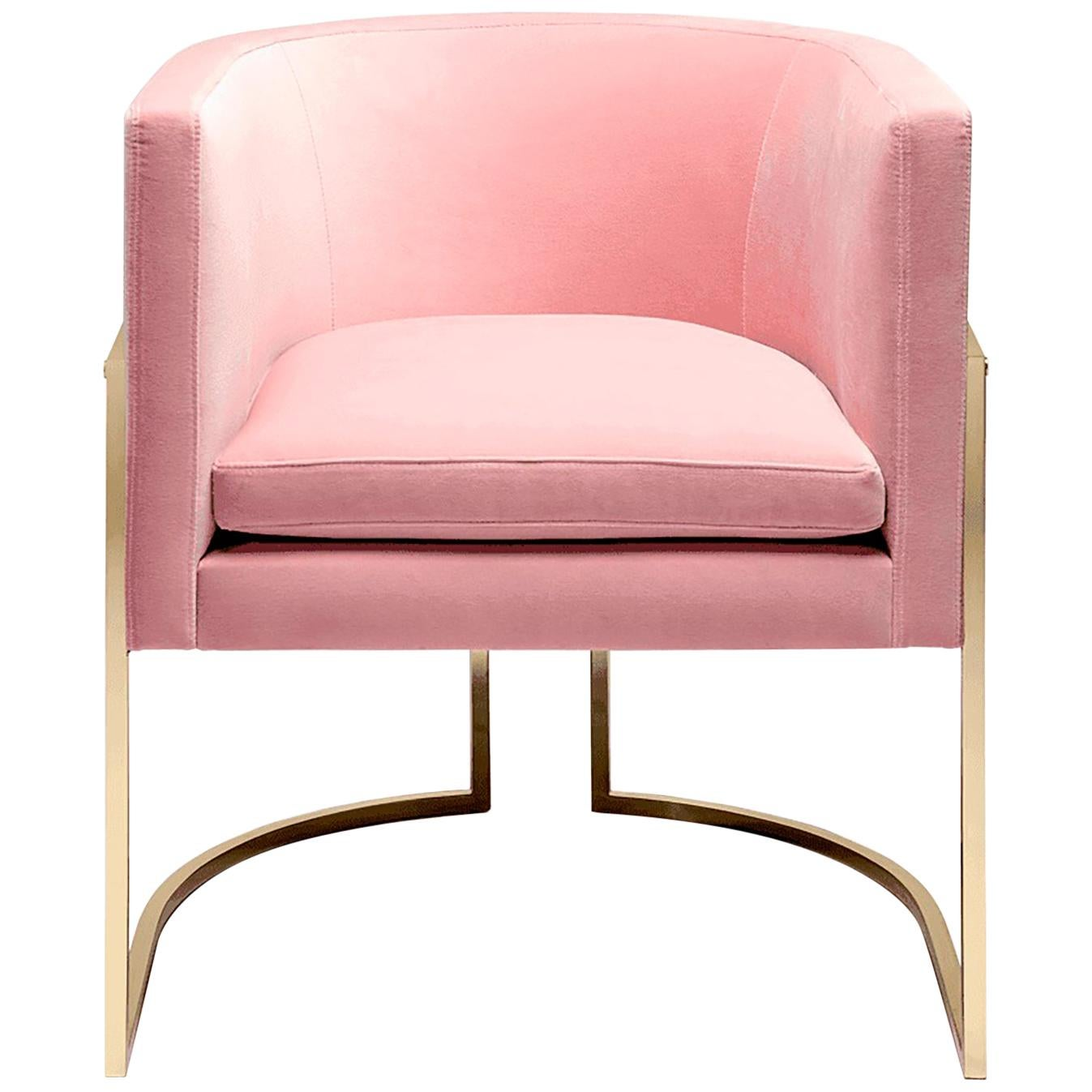 Luxury Beverly Hills Art Deco Contemporary Velvet Upholstered Dining & Armchair