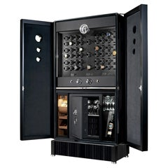 Luxury Black Watch Safe Cabinet