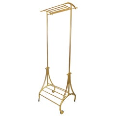 Luxury Bronze Rolling Clothing and Shoe Rack, in Stock (8)