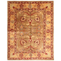 Luxury Brown Rug Ziegler Style Living Room Rugs, All Over Design
