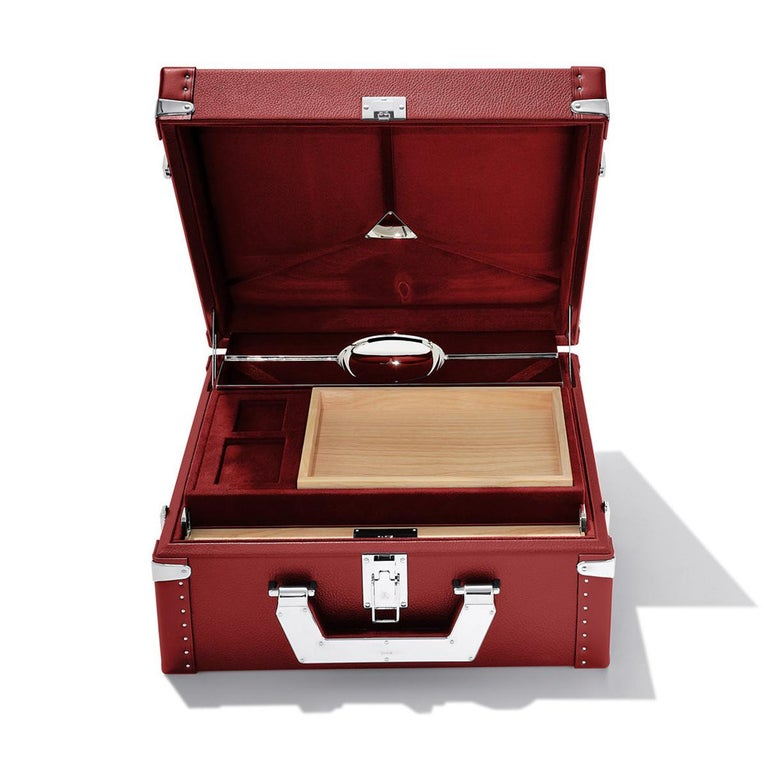 Contemporary Luxury Cuban Black or Red Suitcase For Sale