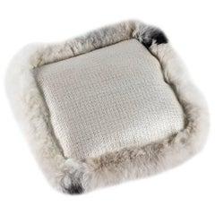 Luxury Cushions, Dedar Fabric, Sheepskin Border