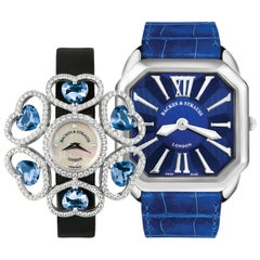 Luxury Diamond Watch Duo for Men and Women - Limited Holiday Offer - 25%Discount