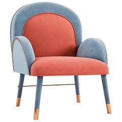 "Luxury ""Elizabeth"" Midcentury Contemporary Velvet Upholstered Dining & Armchair"