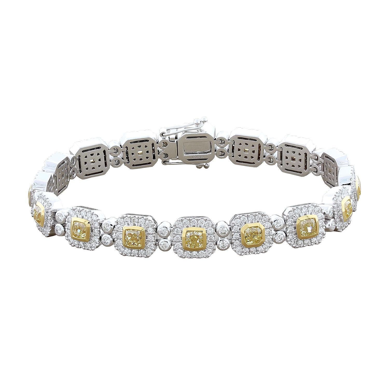 Luxury Fancy Yellow Diamond Gold Bracelet