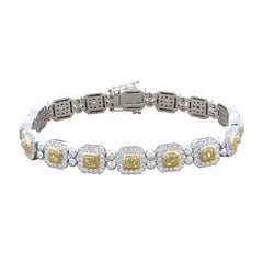 Luxury Fancy Yellow Diamond Gold Bracelet
