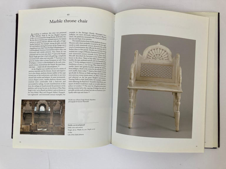 English Luxury Goods from India The Art of the Indian Cabinet-Maker Hardcover Table Book For Sale